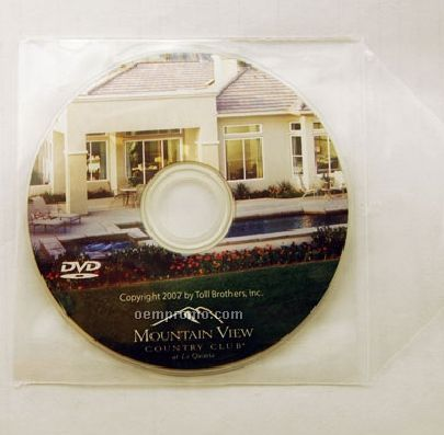Mini DVD Replication In Clear Pvc Sleeve