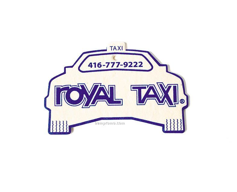 Taxi Air Freshener (Full Color)