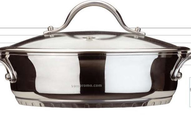 Tulip Deep Braiser Pan W Glass Cover China Wholesale Tulip