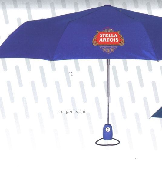 "60"" Automatic Folding Umbrella With Wood Handle"