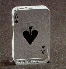 Acrylic Paperweight Up To 16 Square Inches / Playing Card