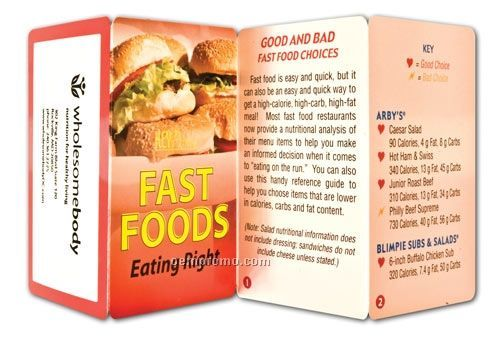 Fast Foods - Eating Right Key Point Brochure (Folds To Card Size)
