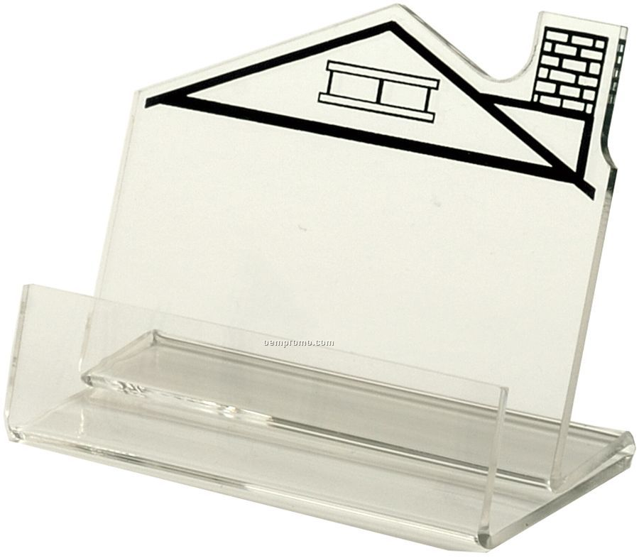 Horizontal Business Card Holder With Right Chimney House Imprint ...