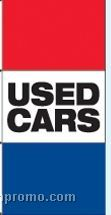 Single Face Stock Message Free Flying Drape Flags - Used Cars