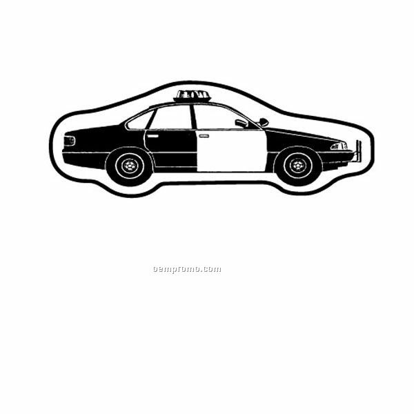 "Stock Shape Police Car Recycled Magnet (1 9/16""X3 15/16"")"