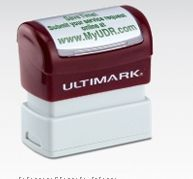 """Ultimark Specialty Pre-inked Stamp (1 7/8""""X5/8"""")"""