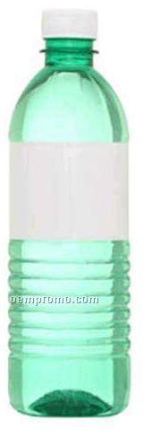 16.9 Oz Custom Twist Off Green Water Bottle