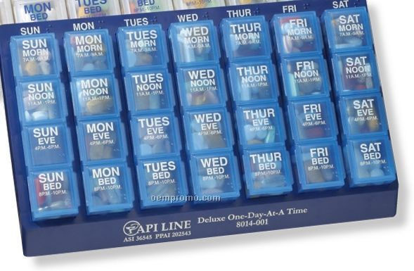 Four-a-day, One-day-at-a-time Pill Box Planner