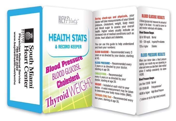 Health Stats Key Point Brochure (Folds To Card Size)