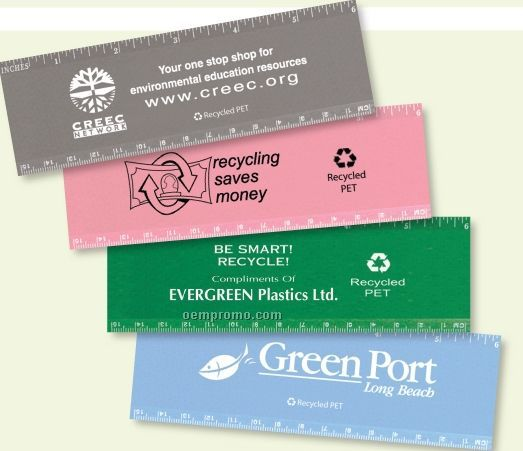 """Recycled P.e.t. 6"""" Ruler"""