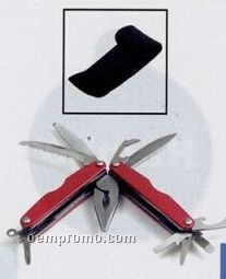Coated Metals Anodized Multi Tool W/ Belt Pouch/ Red