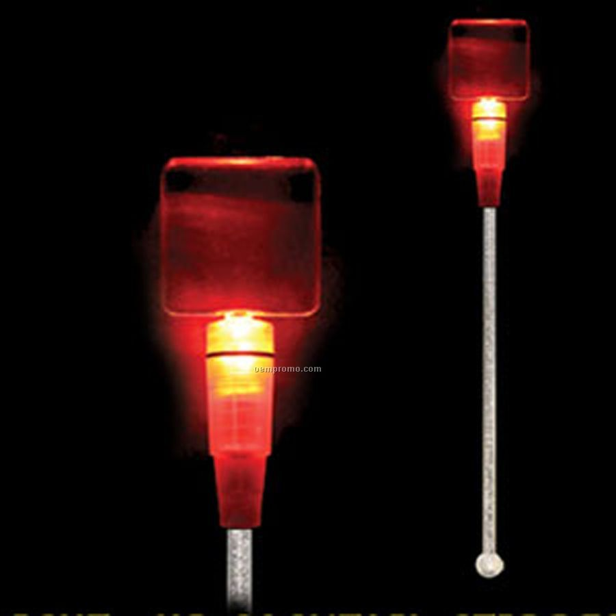 Light Up Stir Stick W/ Red Square Handle