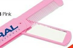 Pink Comb And Mirror Combo (Printed)