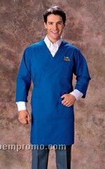 Wraparound Scrub Jacket With 3/4 Sleeve - Gold, Kelly Green, Navy Blue