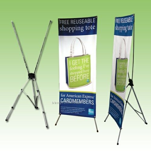 "Banner Stand/With 48"" X 81"" Banner"