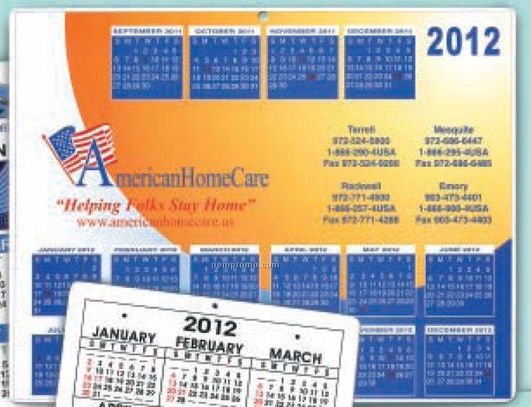 Calendar W/ Repositionable Backing