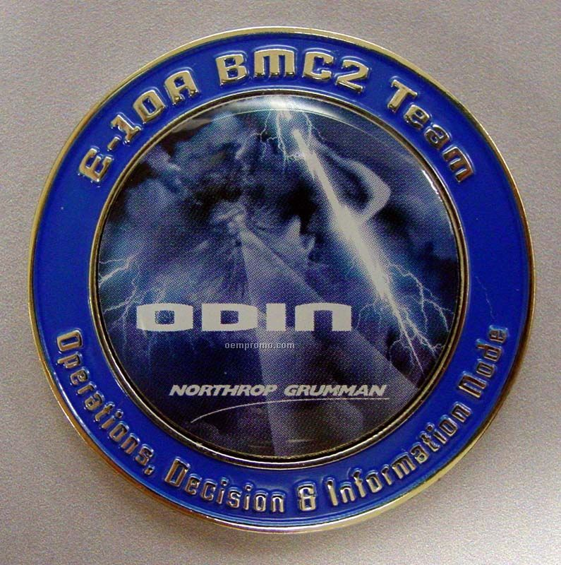 "Die Struck With Soft Enamel Color Double Sided Challenge Coin (1 1/4"")"