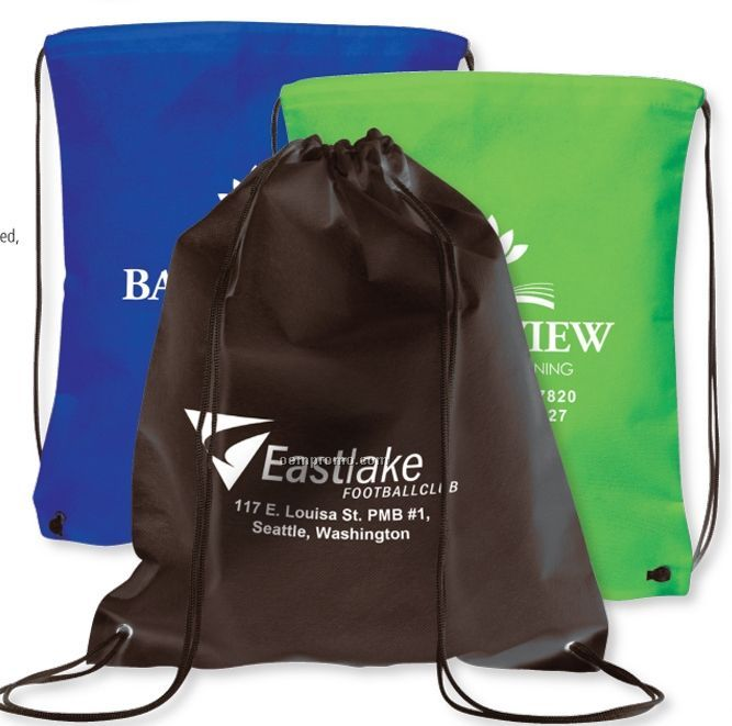 Non-woven Economy Drawstring Cinch Pack (Overseas 8-10 Weeks)