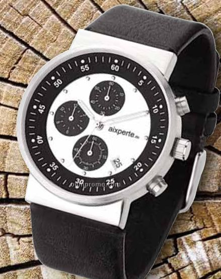 Unisex Sport Solid Steel Case Watch W/ Japanese Chronograph Movement