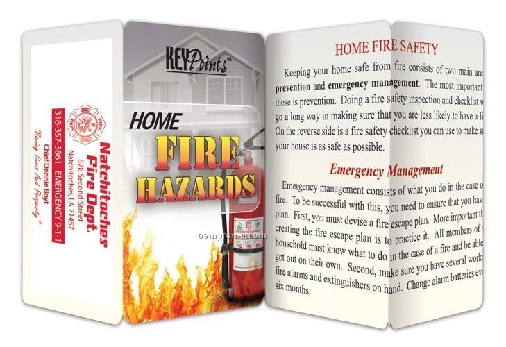 Home Fire Hazards Key Point Brochure