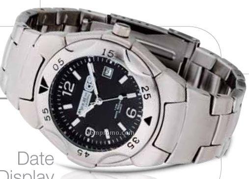Watch Creations Men's Matte Silver Watch W/ Date Display