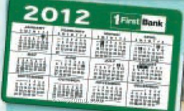 Calendar Cards For Wallet & Pocket