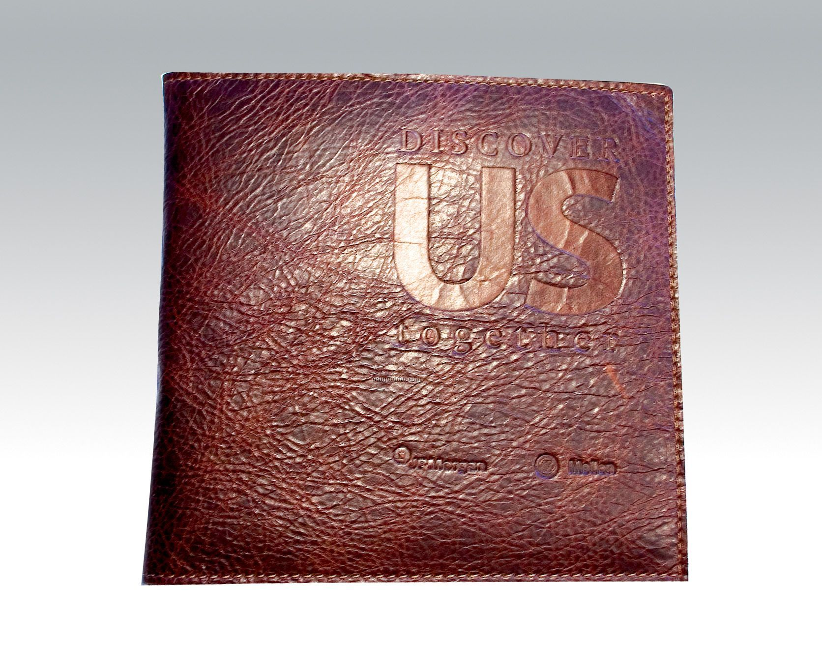 Leather Bound CD Or DVD Case Debossed One Side