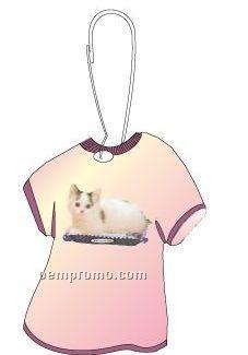 Munchkin Cat T-shirt Zipper Pull