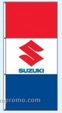 Single Face Dealer Free Flying Drape Flags - Suzuki