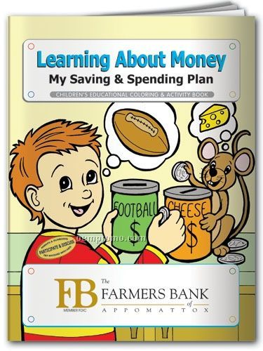 Action Pack Book W/Crayons & Sleeve- Learning About Money/ Saving/ Spending