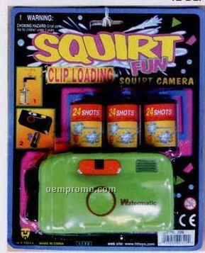 Trick Squirt Camera W/ 3 Fillable Film Canisters