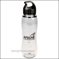 25 Oz. Poly Pure Slim Grip Bottle (Crest Lid)