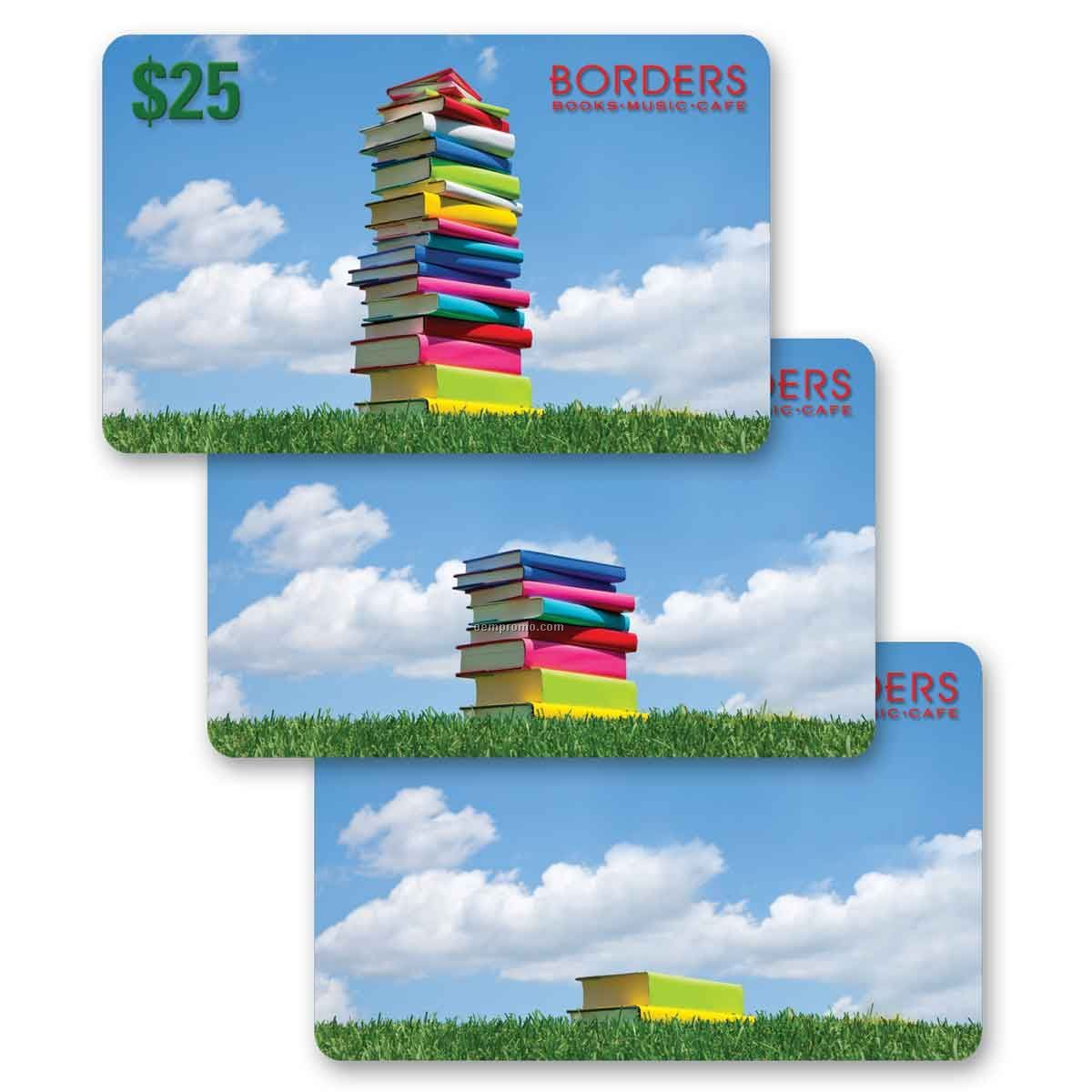 3d Lenticular Gift Card W/Animated Stack Of Books Images (Blanks)