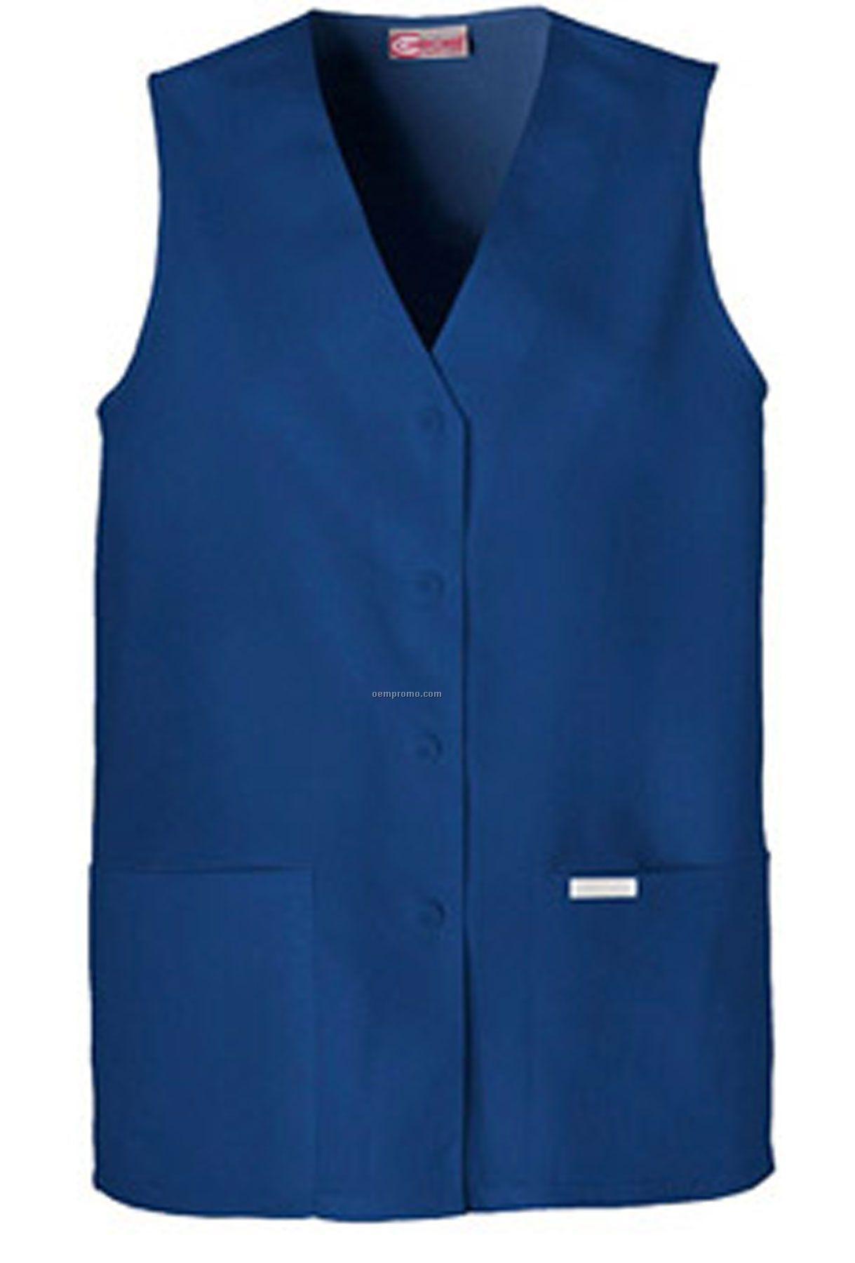 Cherokee Button Front Scrub Vest