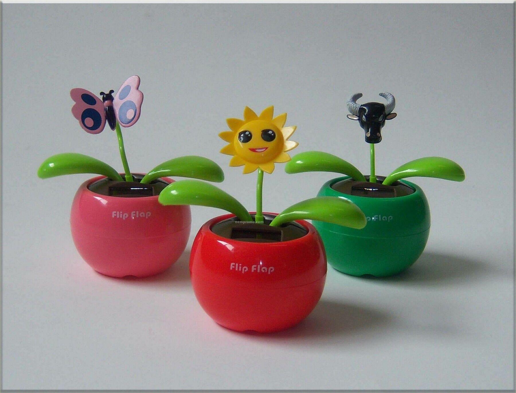 Motion Solar Flower With Custom 3d Head