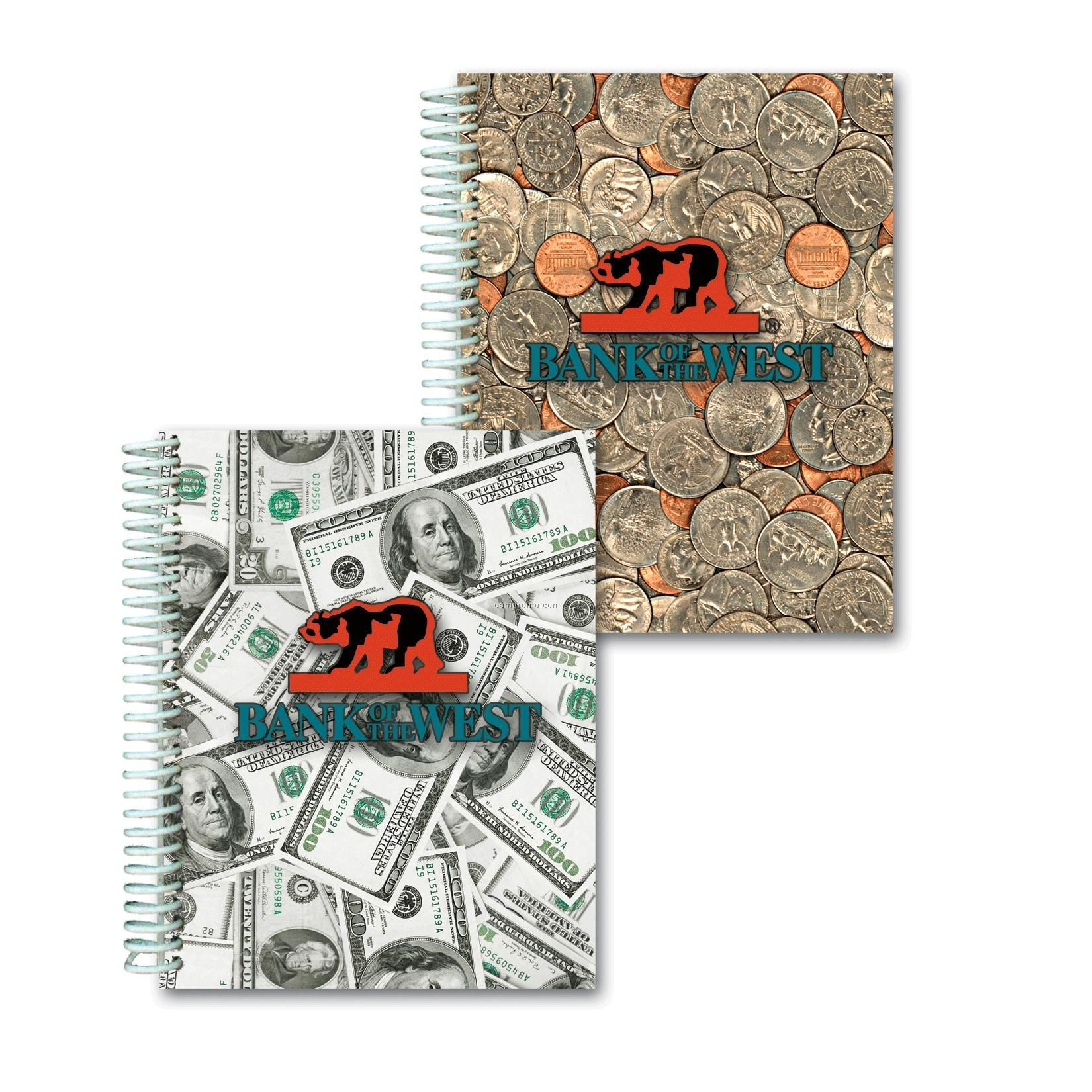 3d Lenticular Notebook/Stock/Dollars And Cents (Custom)