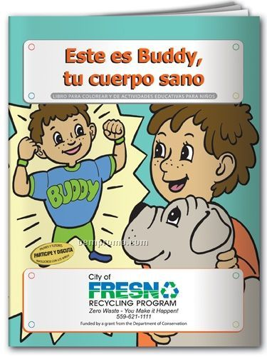 Spanish Action Pack Book W/Crayons & Sleeve - Meet Buddy Your Healthy Body
