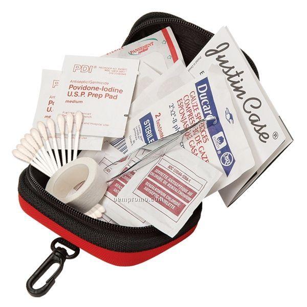 Trekker Basic First Aid Kit W/ Hook & Belt Loop Attachment