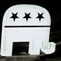 Acrylic Paperweight Up To 16 Square Inches / Republican Elephant