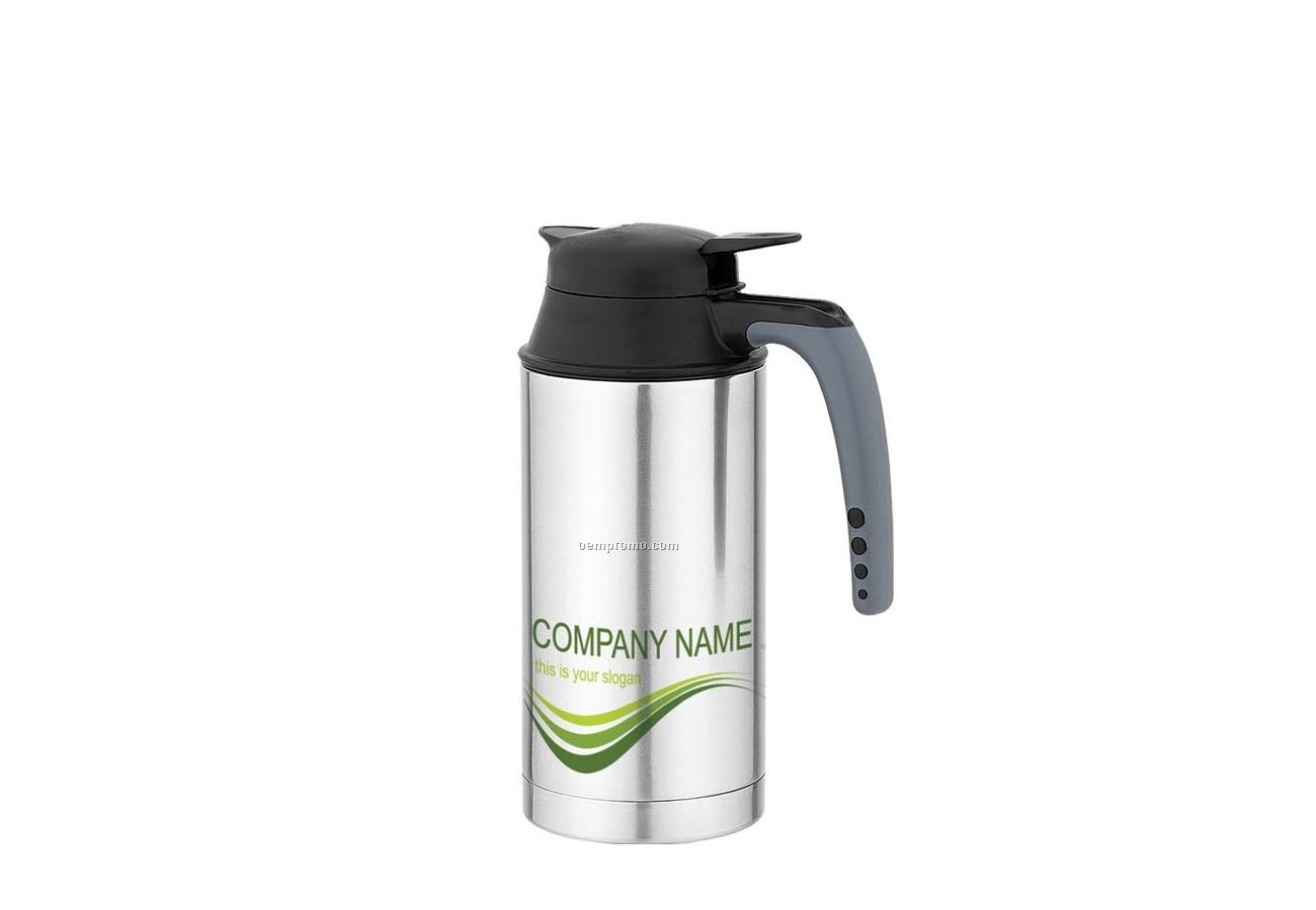 Double Wall Thermal Bottle W/ Open Handle & Push Button Spout (33 Oz.)