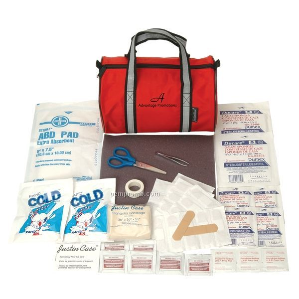 Mini First Aid Duffel Kit W/ Reflective Handles