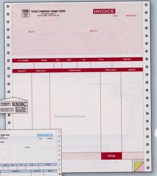 Parchment Product Invoice (2 Part)
