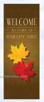 Semi-custom Vertical Avenue Banner Kit - Welcome W/ Fall Leaves