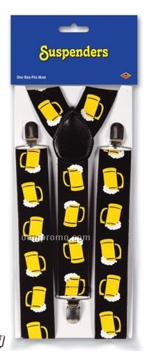 Beer Mug Suspenders