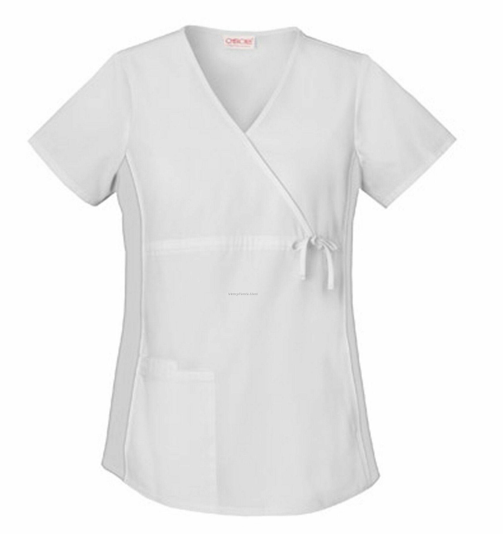 Cherokee Flex-i-bles Maternity Wrap Scrub Top