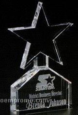 "Star Gallery Crystal Celestial Star Award (6 1/2"")"