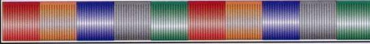 30' Multi-color Metallic Hula Streamer (Red/Orange/Blue/Silver & Green)