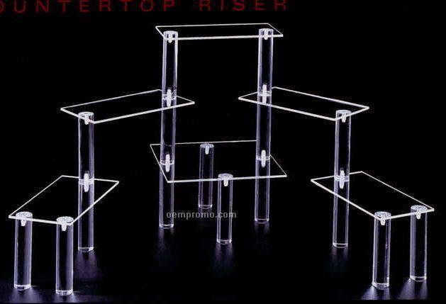"""Clear Rectangular Multi Level Display Riser W/ 8 Shelves (4.5""""X9"""" Shelves)"""