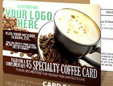 Custom Branded $10.00 Specialty Coffee Card