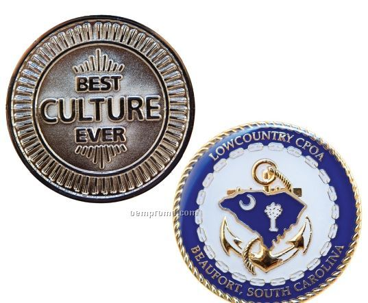 "Gold Plated Zinc Core Challenge Coins - Super Saver (1 1/2"")"
